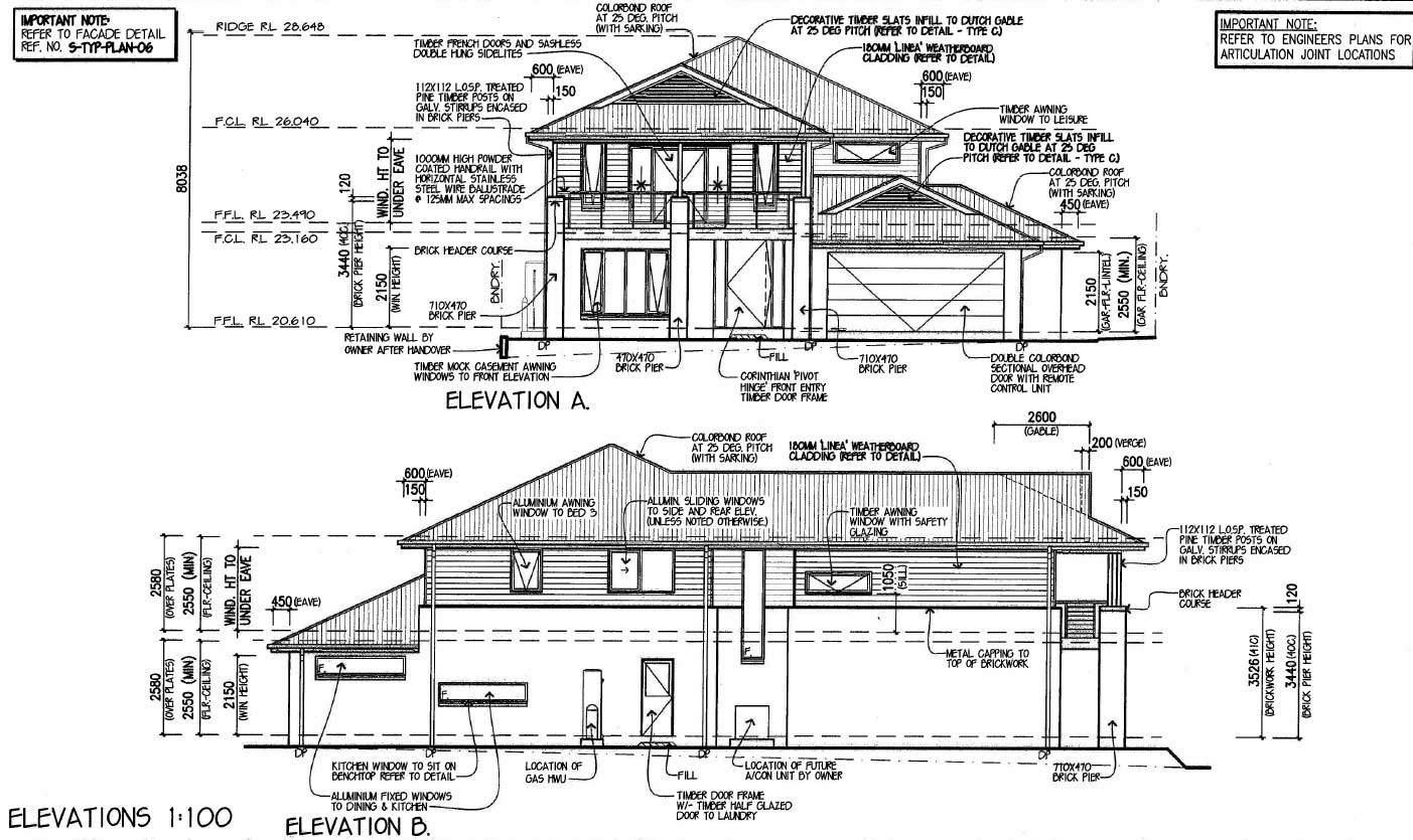 Elevation Plan And Side Views : Building permit plan examination bridgeton township