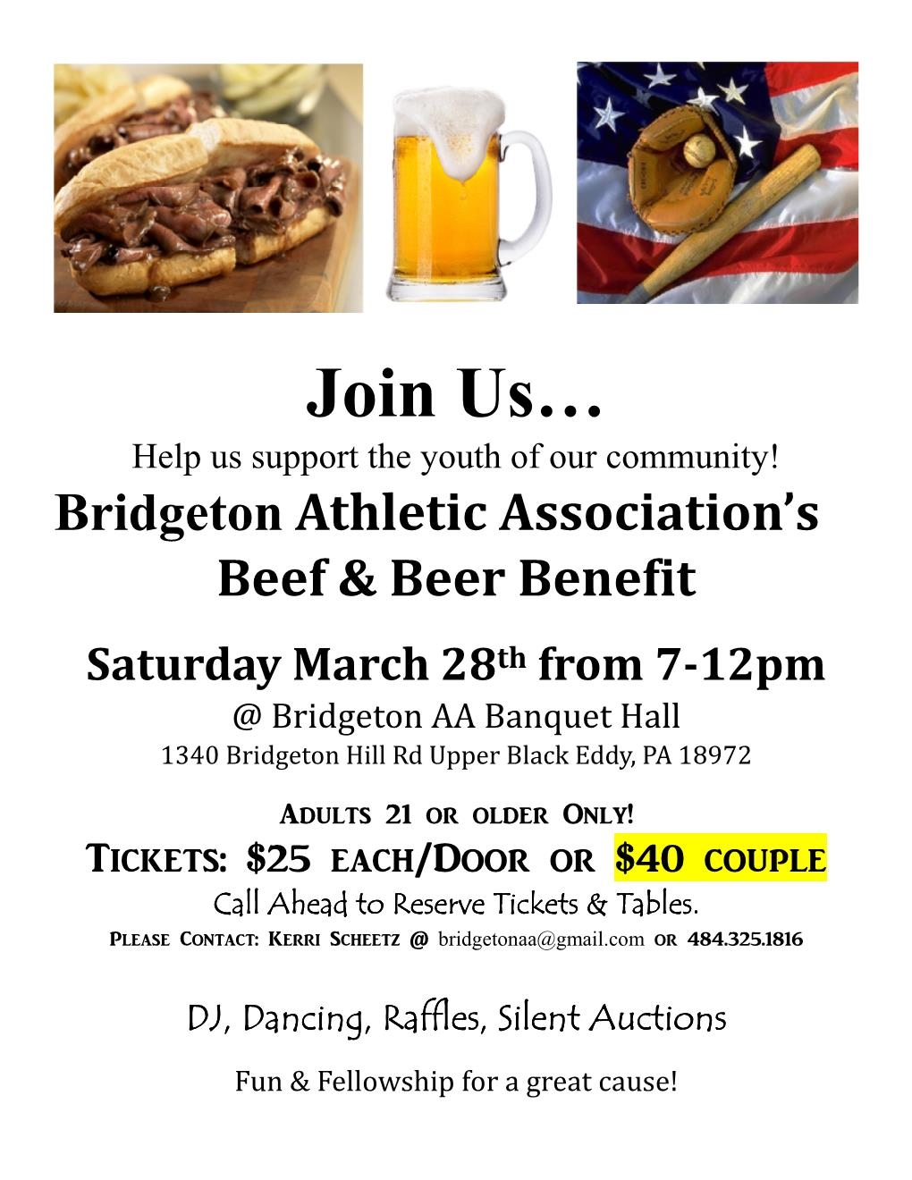 Bridgeton Athletic Association Fundraiser | Bridgeton Township