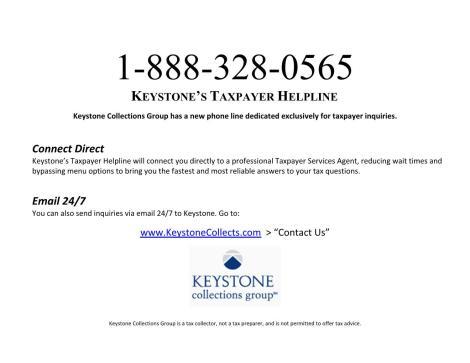 Taxpayer Helpline Flier