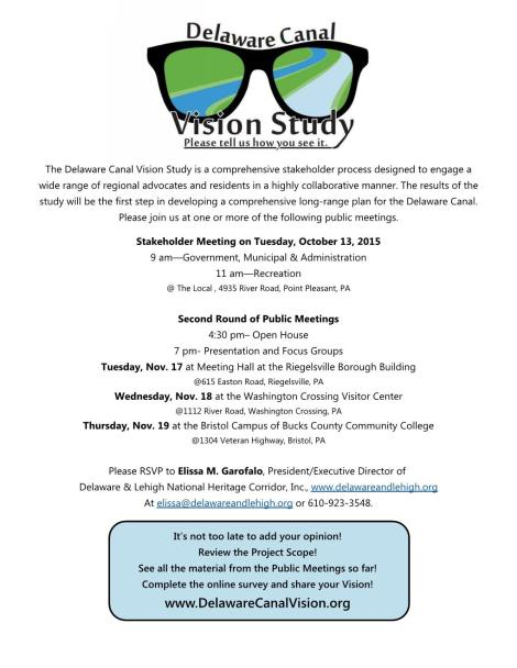 Delaware Canal Vision Study 9-15