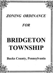 Title Page from ZONING ORDINANCE BRIDGETON TOWNSHIP BUCKS COUNTY, PENNSYLVANIA June 1999