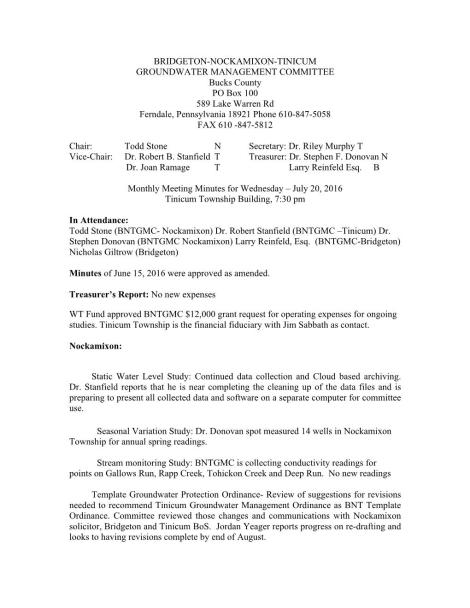 BNTGMC Minutes July 20,2016 Page 001