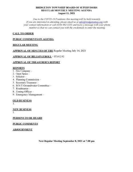 08-11-2021 Agenda